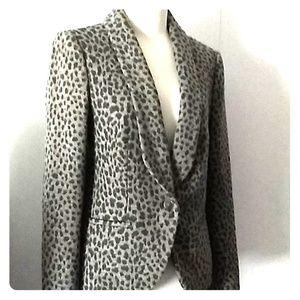 Loft animal print gray jacket